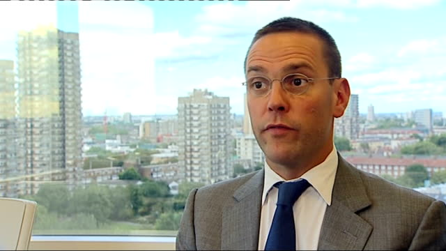 news of the world paper to close england london james murdoch interview sot fundamentally actions taken a number of years ago by certain individuals... - news of the world stock videos & royalty-free footage