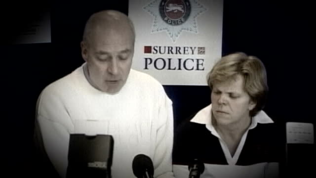 police ignored evidence that milly dowler's phone had been hacked t24030202 england surrey staines robert dowler and sally dowler making appeal at... - conference phone stock videos & royalty-free footage