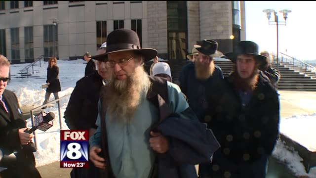 vídeos y material grabado en eventos de stock de news package with anchor introduction about the re-sentencing of sam mullet and his followers who carried out amish beard-cutting attacks, on march... - amish