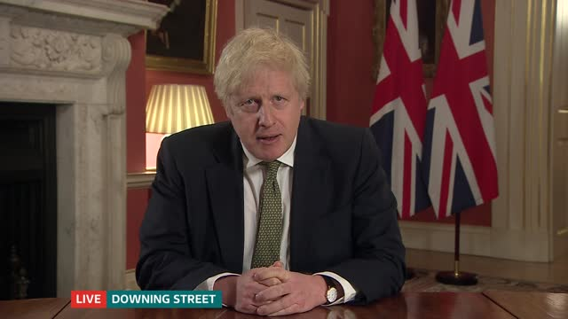 coronavirus: boris johnson live address to the nation pab; england: london: westminster: downing street: boris johnson mp live statement sot . and i... - rolling stock videos & royalty-free footage