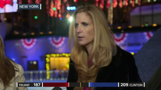 US Presidential Election 2016 0340 0440 EXT Julie Etchingham interviews Ann Coulter and Kristin Tate SOT Washington DC Bradby to camera STUDIO Bradby...