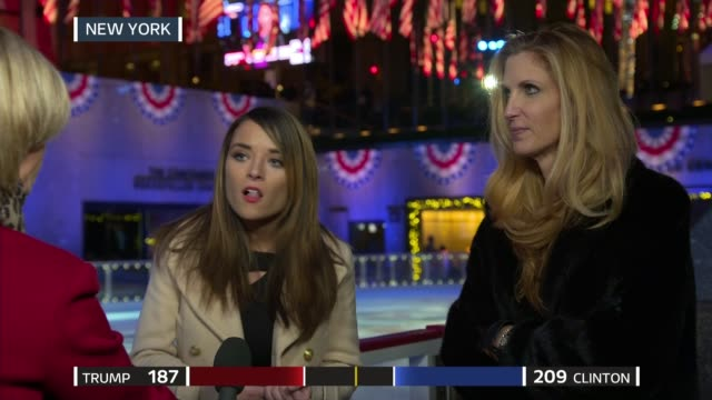 US Presidential Election 2016 0340 0440 Julie Etchingham interviews Ann Coulter and Kristin Tate SOT