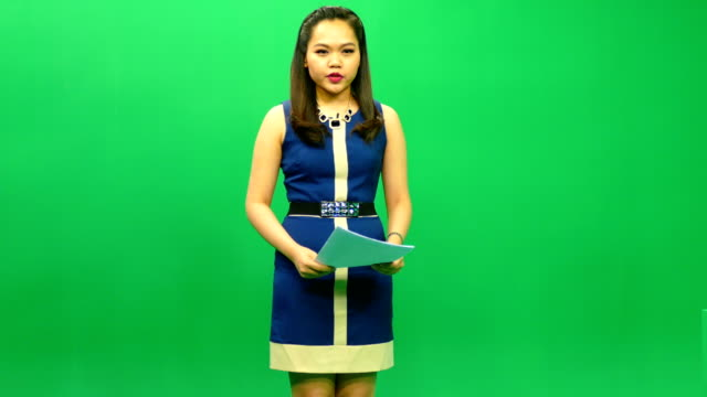 newscaster reading a news bulletin - presenter stock videos and b-roll footage