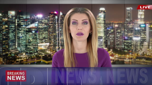 newscaster reading the breaking news - breaking news stock videos & royalty-free footage