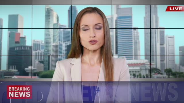 newscaster reading the breaking news - press conference stock videos & royalty-free footage
