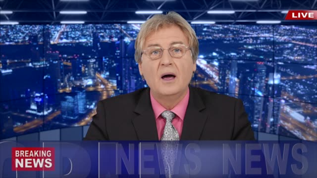 4k newscaster reading the breaking news - breaking news stock videos & royalty-free footage