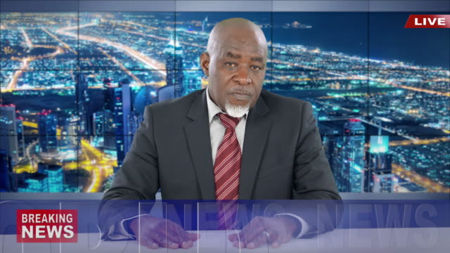 4k newscaster reading the breaking news - newsreader stock videos & royalty-free footage