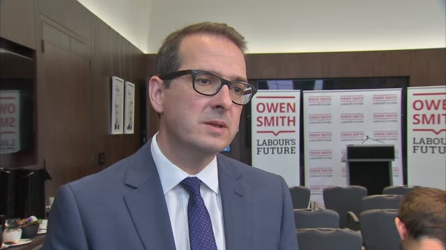 newspaper allegations that keith vaz paid two men for sex owen smith interview england london int owen smith mp interview sot - owen smith politician stock videos & royalty-free footage