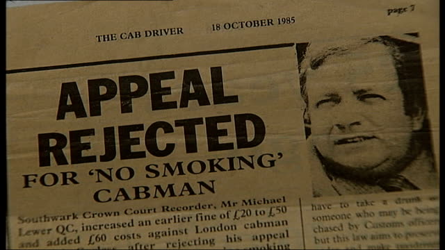 newspaper clipping on story on richard carless appeal being rejected by judge - newspaper clipping stock videos and b-roll footage