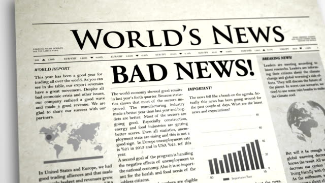Newspaper Headline: Bad News