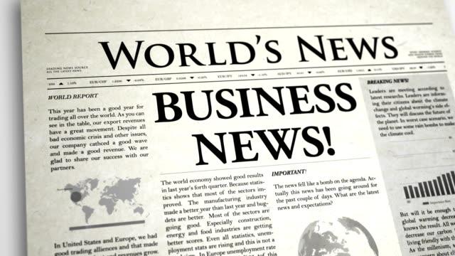 vídeos de stock e filmes b-roll de primeira página de jornal: negócios de - ponto de exclamação