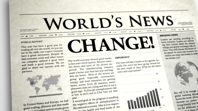 Newspaper Headline: Change