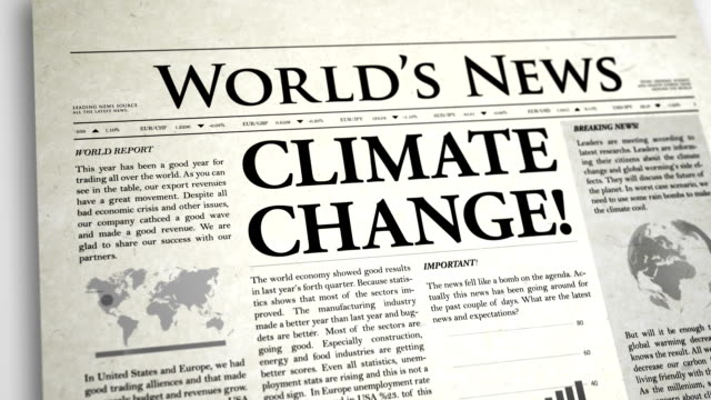 Newspaper Headline: Climate Change