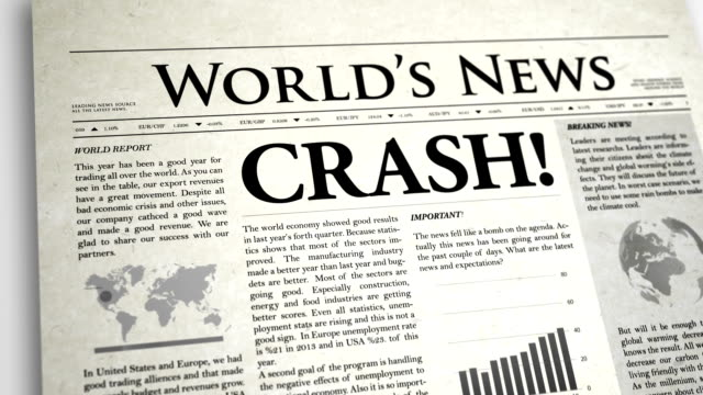 newspaper headline : crush - exclamation point stock videos and b-roll footage
