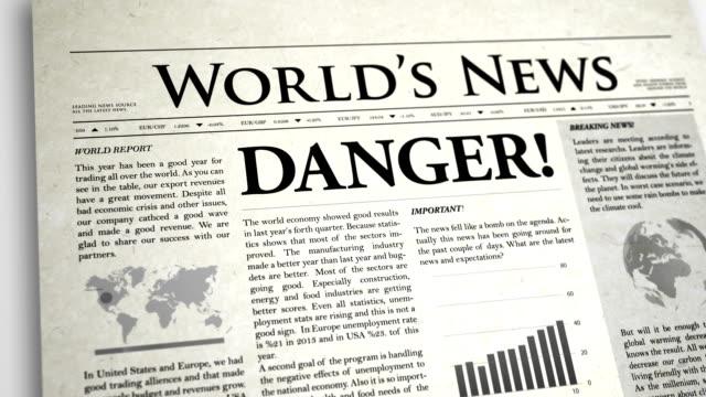 Schlagzeile: Gefahr