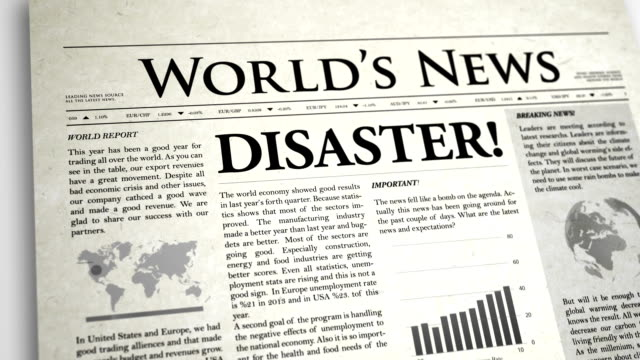 newspaper headline: disaster - exclamation point stock videos and b-roll footage