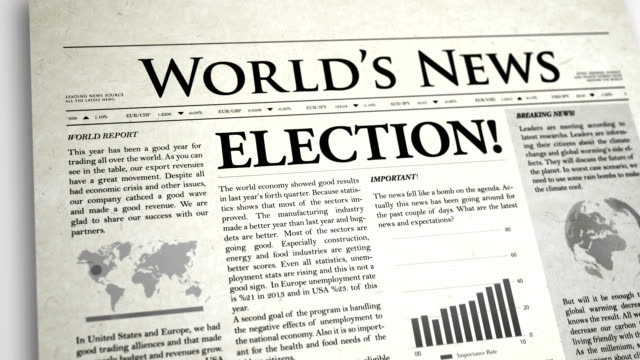 Newspaper Headline: Election