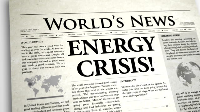 Newspaper Headline: Energy Crisis