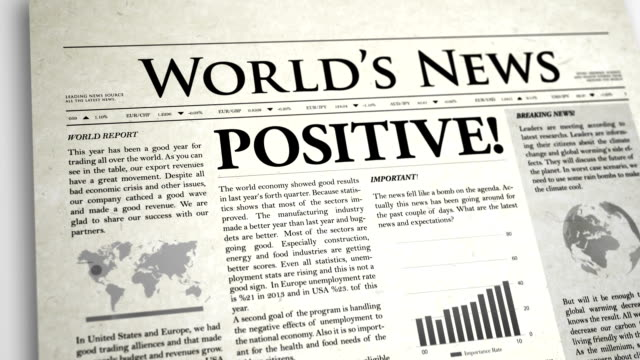 newspaper headline: positive - press release stock videos and b-roll footage