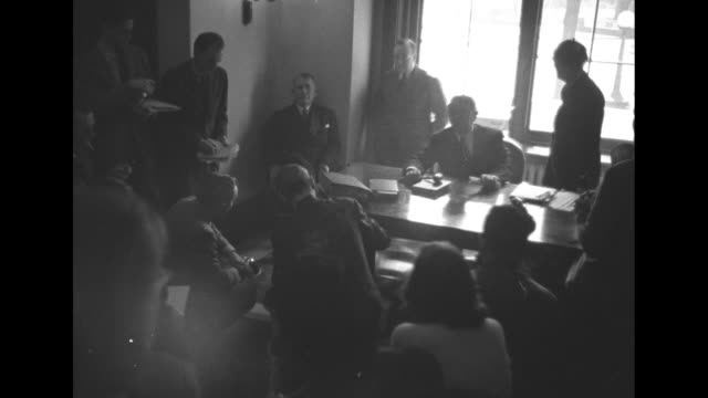 cu newspaper headline reading barkley quits as leader protests fdr's tax bill veto / cu newspaper headline reading senate leader resigns in anger at... - alben w. barkley stock videos and b-roll footage