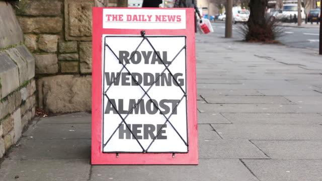 Newspaper Headline - Royal Wedding almost here