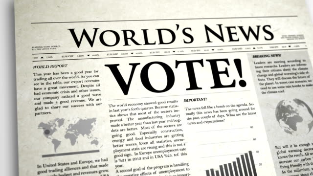 Newspaper Headline: Vote