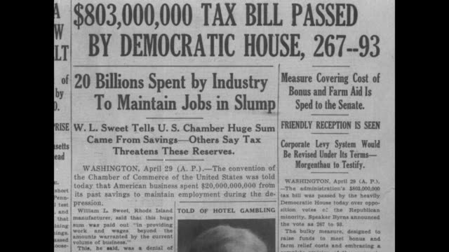 $803000 tax bill passed by democratic house 26793 20 billions spent by industry to maintain jobs in slump wl sweet tells us chamber huge sum came... - debt stock videos & royalty-free footage