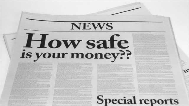 newspaper headlines with bad economic news - 2008 stock videos and b-roll footage