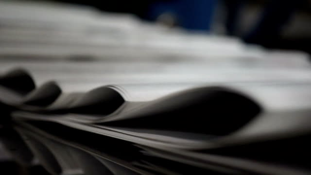 newspaper print process - paper stock videos & royalty-free footage