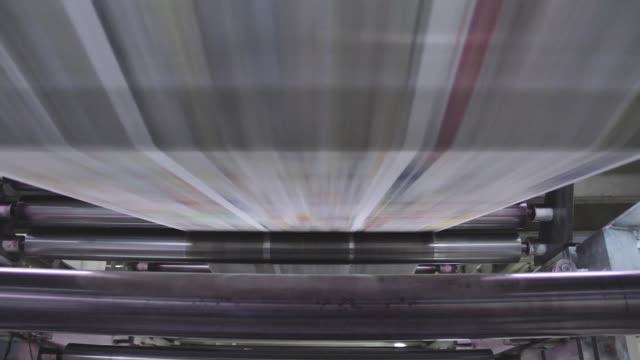 a newspaper printer machine in mexico city - pressa da stampa video stock e b–roll