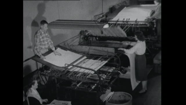 newspaper printing press - 1961 stock videos & royalty-free footage