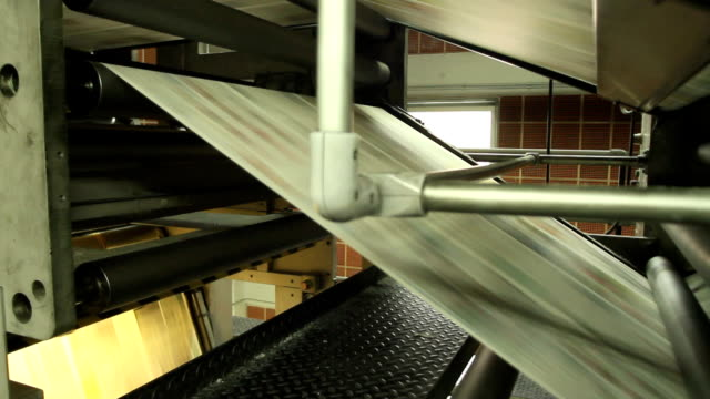 newspaper printing shop machinery - newspaper stock videos and b-roll footage