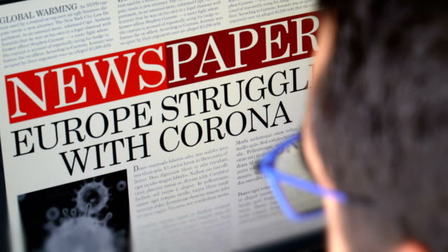 "newspaper title - ""europe struggle with corona"" - newspaper headline stock videos & royalty-free footage"