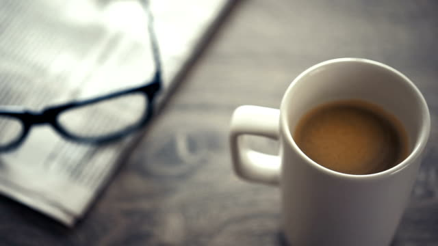 newspapers and coffee - magazine stock videos & royalty-free footage
