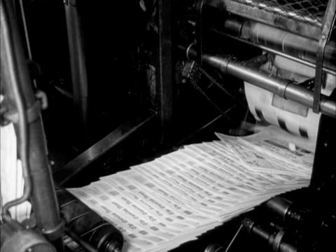 newspapers come off the printing presses at a newspaper print works. - printing press stock videos & royalty-free footage