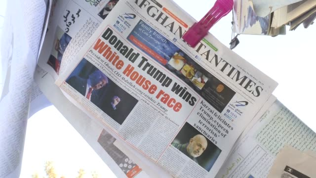 newspapers in afghanistan lead with us president elect donald trump's shock election victory - shock stock videos & royalty-free footage