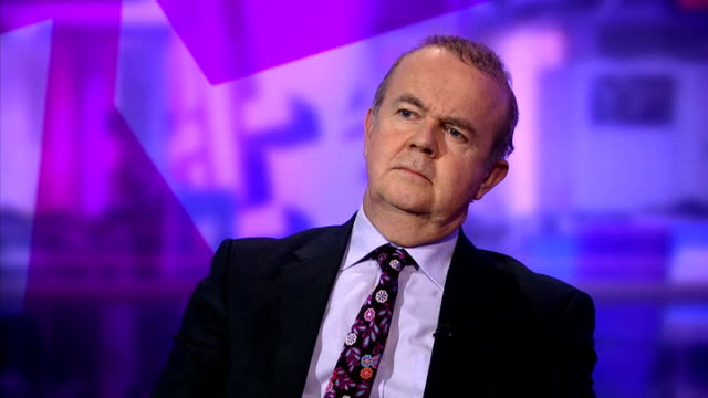 newspapers' plans for press regulation rejected; england: london: gir: int ian hislop sitting in studio - ian hislop stock videos & royalty-free footage