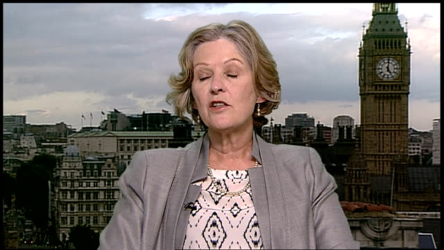newspapers' plans for press regulation rejected; gir: baroness hollins 2-way interview from westminster and ian hislop studio interview sot - ian hislop stock videos & royalty-free footage