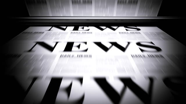 newspapers printing - good news stock videos & royalty-free footage