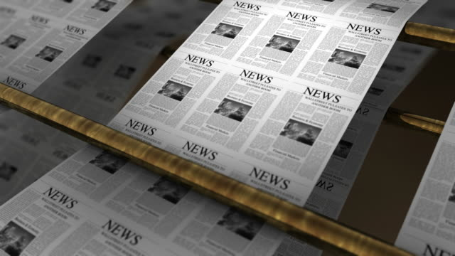 newspapers printing - announcement message stock videos & royalty-free footage