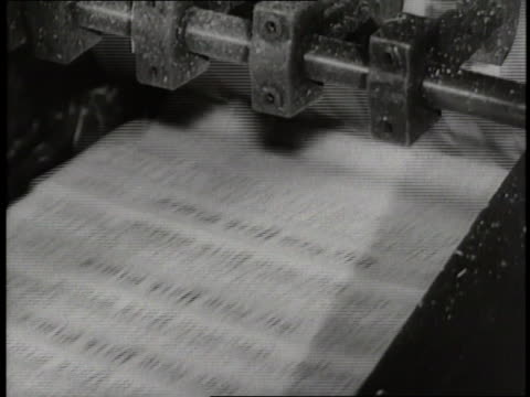 newspapers run through a printing press. - printing press stock videos & royalty-free footage