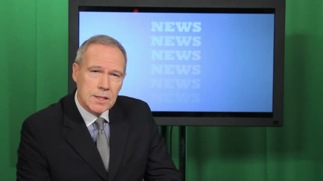 newsreader in television studio - media occupation stock videos & royalty-free footage