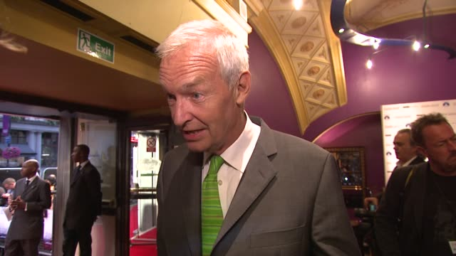 newsreader jon snow on his film plans and anchoring paralympics coverage at the shadow dancer uk premiere at cineworld haymarket on august 13, 2012... - jon snow journalist stock-videos und b-roll-filmmaterial