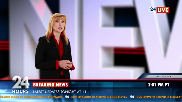 HD: Newsreader Presenting The News