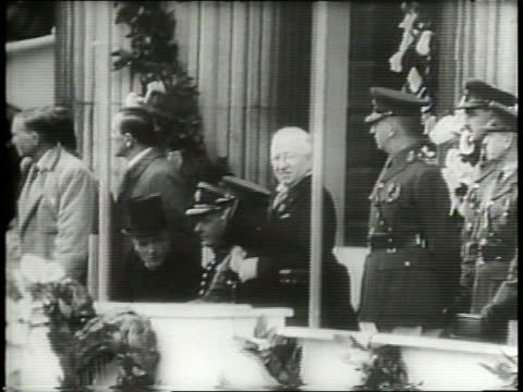 newsreel / cold war / ireland celebrates its independence and becoming the republic of ireland / military units ride down o'connell street /... - dublin republic of ireland stock videos & royalty-free footage