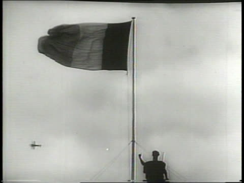 newsreel / cold war / ireland celebrates its independence with a parade down o'connell street in dublin ireland during the cold war / people and... - アイルランド共和国点の映像素材/bロール