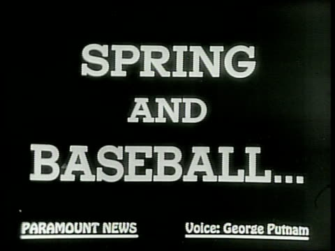 SPRING AND BASEBALL ¦¦ THEY'LL SOON BE HERE / Baseaball get's the goahead major league players warmup in St Petersburg Florida in 1949 / Baseball...