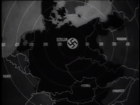 a newsreel highlights allied forces surrounding the third reich during world war ii. - newsreel stock videos & royalty-free footage