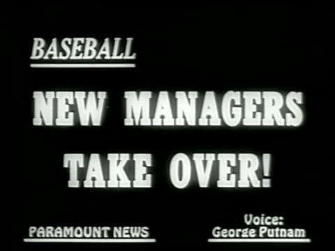 newsreel / narrated / exterior of comiskey park / lyons pitching / lyons meets fans / lyons and dykes together / macphail throws switch for lights /... - baseball mal stock-videos und b-roll-filmmaterial