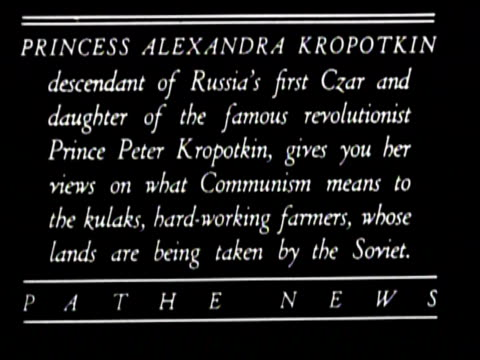 newsreel / no audio / pathe news / pathe news text cards explaining soviet russia five year plan / title card reads: uncensored pictures of red... - censorship stock videos & royalty-free footage